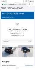 Toyota Avensis, 2003 год, 380 000 руб.