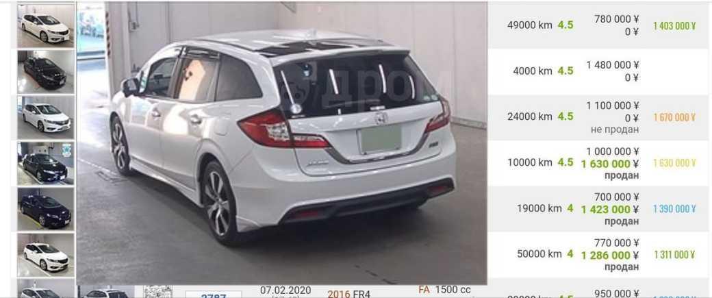 Honda Jade, 2015 год, 1 010 000 руб.