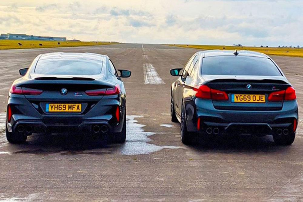 Автобаттл: BMW M5 против BMW M8. Кто быстрее? (ВИДЕО)