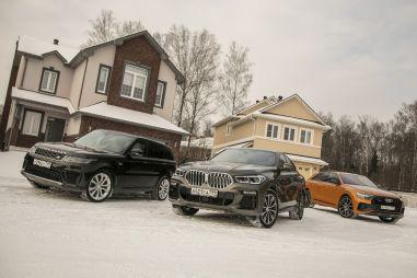 Audi Q8 vs BMW X6 vs Range Rover Sport. Кроссоверы в стиле купе