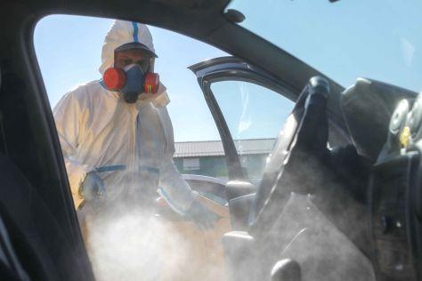 ЦОДД опубликовал видеоинструкцию о том, как дезинфицировать машину (ВИДЕО)