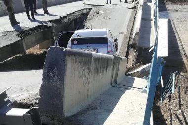 Появилось ВИДЕО сегодняшнего обрушения моста в Приморском крае