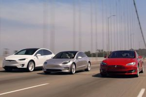 Автобаттл электромобилей: Tesla Model S против Model X и Model 3 (ВИДЕО)