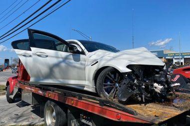 Новую BMW M5 «затоталили» через 11 км после выезда из автосалона