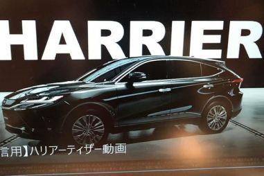 Следующее поколение Toyota Harrier засветилось на видео до премьеры