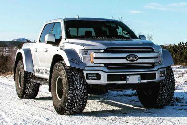 Ford F-150 пересадили на 44-дюймовые колеса