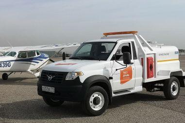 Самый маленький аэродромный топливозаправщик сделали на базе УАЗа Профи
