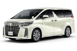 Toyota представила Alphard и Vellfire с золотыми акцентами