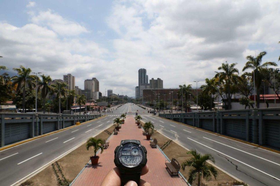 Проспект Боливара в Каракасе, Венесуэла