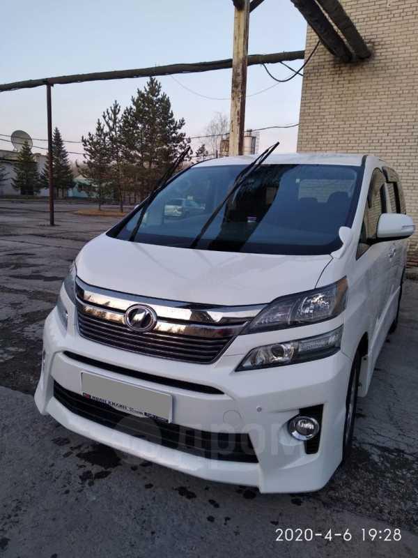 Toyota Vellfire, 2012 год, 1 520 000 руб.