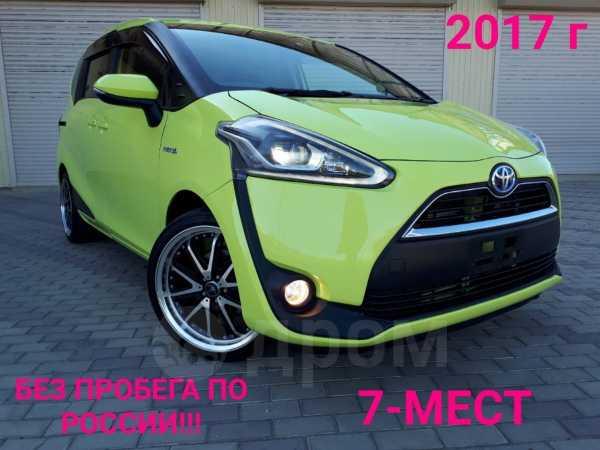 Toyota Sienta, 2017 год, 935 000 руб.