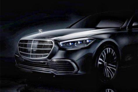 Mercedes-Benz опубликовал первую фотографию S-Class нового поколения