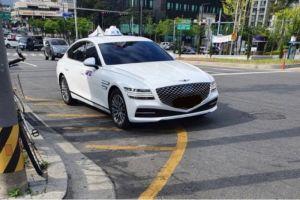 Новейший бизнес-седан Genesis G80 уже начали использовать в такси