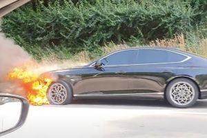 Новейший Genesis G80 загорелся в Корее, и это не единственная проблема компании