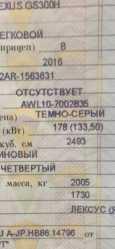 Lexus GS300h, 2016 год, 2 250 000 руб.