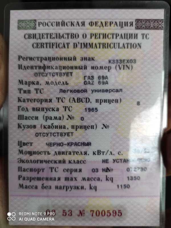 ГАЗ 69, 1965 год, 200 000 руб.