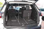 Chevrolet Traverse 201701 - Размеры багажника