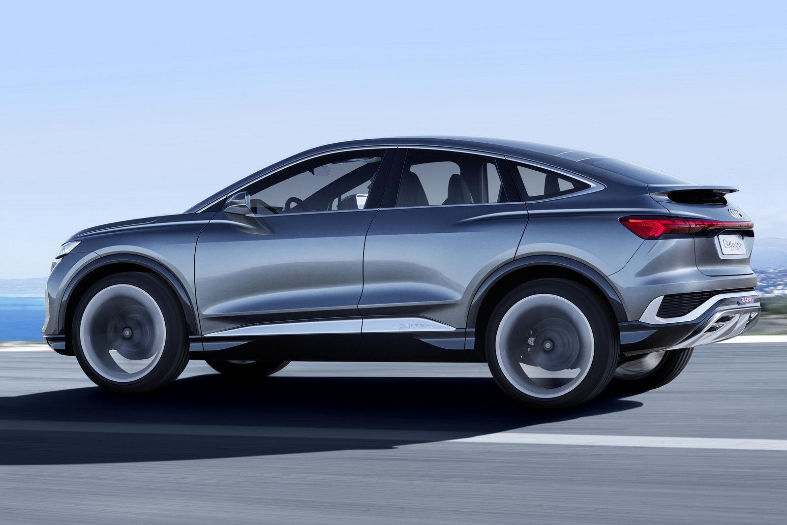 Audi показала концептуальный электрический кроссовер Q4 Sportback e-tron