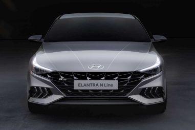 Hyundai опубликовала фото «оспортивленного» седана Elantra N Line