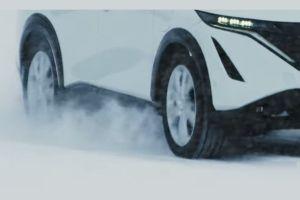 Nissan показал свой электрический кроссовер в движении (ВИДЕО)