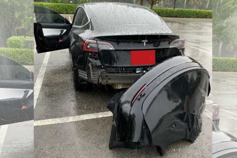 Tesla Model 3 может терять задний бампер при езде по лужам (ВИДЕО)