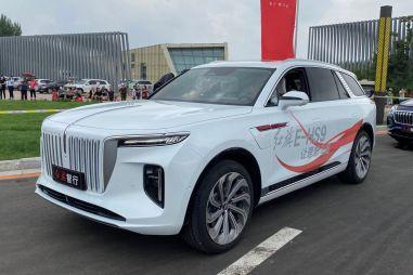 Китайцы показали суперлюксовый электрический кроссовер HongQi