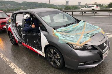 Блог Nissan Leaf. Разбираем кузов и сбрасываем вес. Помогает ли это «дальнобойности»