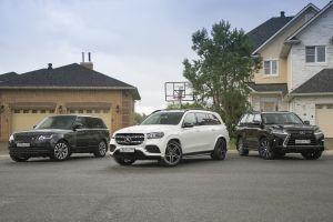 Lexus LX 570, Mercedes-Benz GLS 450 4MATIC и Range Rover Autobiography. Бензиновые короли, или Три полюса одного мира