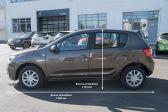 Renault Sandero 201807 - Внутренние размеры
