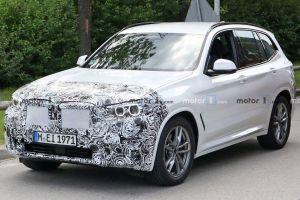 Рестайлинговый BMW X3 третьего поколения впервые замечен на тестах (ФОТО)