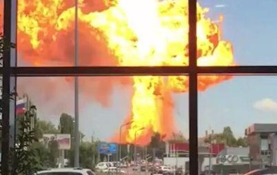 ВИДЕО: взрыв газозаправочной станции в Волгограде