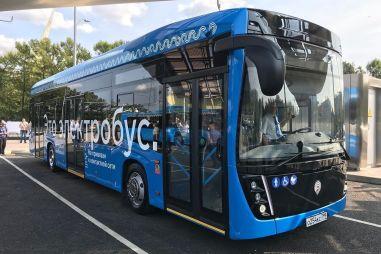 В Москве запустят электробусы-«гармошки»