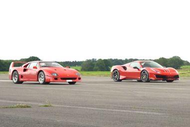 Автобаттл: Ferrari F40 против 488 Pista Spider (ВИДЕО)