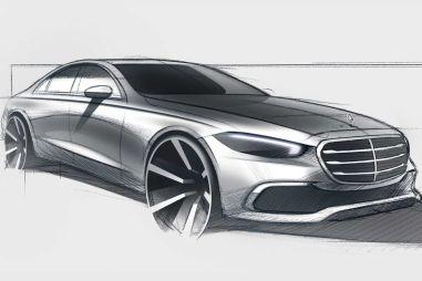 Новый Mercedes-Benz S-Class показали на дизайнерском эскизе