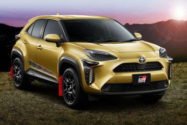 Карбоновая рамка для номеров и красные брызговики: для Toyota Yaris Cross выпущен тюнинг GR