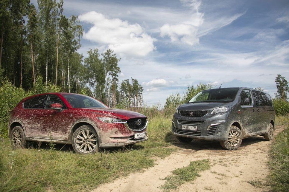 Mazda CX-5 против Peugeot Traveller 4x4: кроссовер или полноприводный минивэн?