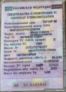 Пышма Sonata 1995