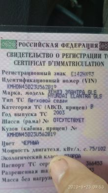 Краснодар Elantra 2003