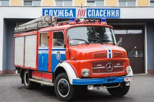 В белорусской провинции нашли 47-летний пожарный Мерседес, который до сих пор работает