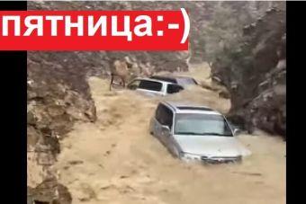 Пятничная подборка видео: сплав на Крузаках по реке