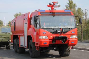 В России разработали новую пожарную машину для аэродромов (ФОТО)
