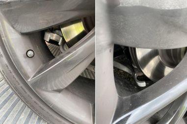 У Tesla Model S после торможения со скорости 200 км/ч развалилась подвеска