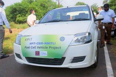 В Индии старый Логан превратили в водородный автомобиль