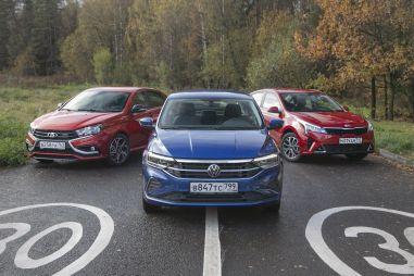 Kia Rio, Volkswagen Polo и Lada Vesta Sport. «Спорт» против семейных ценностей
