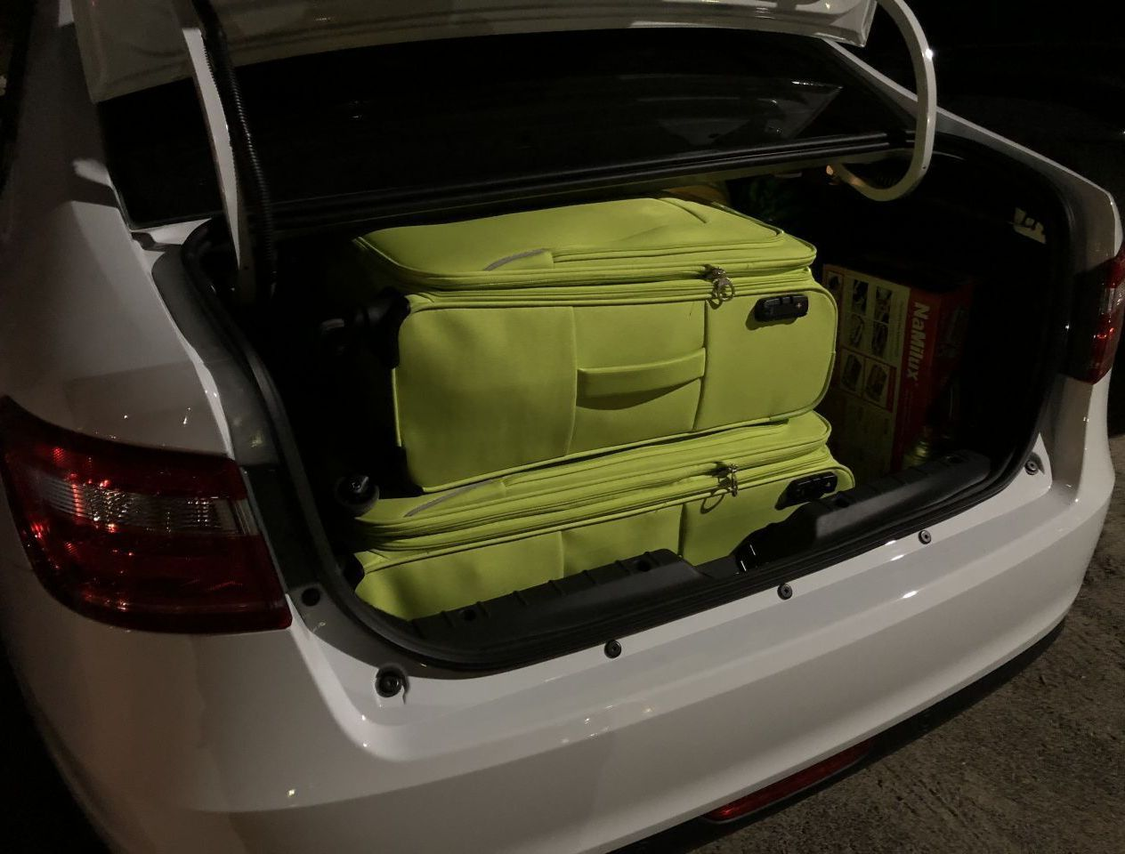 2 взрослых чемодана