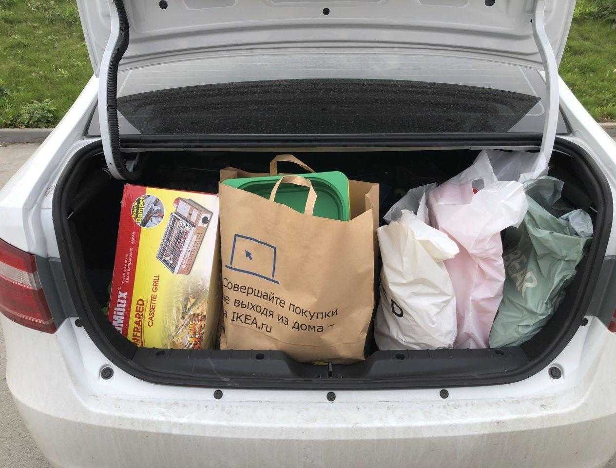 Моё типичное состояние багажника