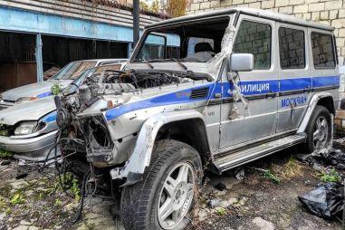 В Москве нашли брошенный полицейский Гелендваген