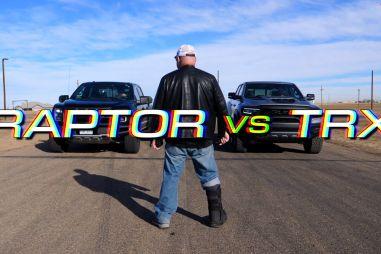 Ford F-150 Raptor против Ram 1500 TRX: драг-битва мощнейших пикапов планеты
