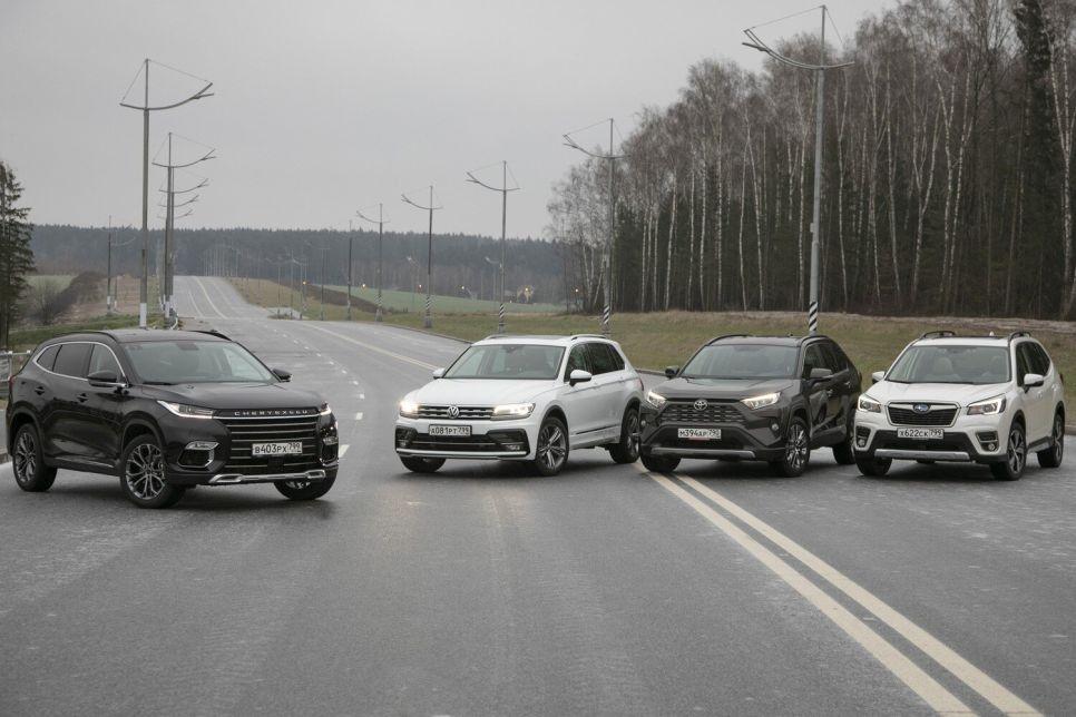 CheryExeed TXL против Subaru Forester, Toyota RAV4 и Volkswagen Tiguan. Китайский «премиум» против грандов