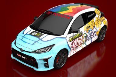 Toyota и 16-летняя школьница превратили GR Yaris в арт-объект, посвященный борьбе с коронавирусом